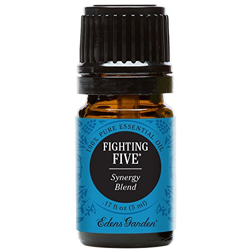 Edens Garden Fighting Five 5 ml 100% Pure Therapeutic Grade GC/MS Tested (Lemon, Cinnamon Leaf, Morocan Rosemary, Clove Bud, Eucalyptus)