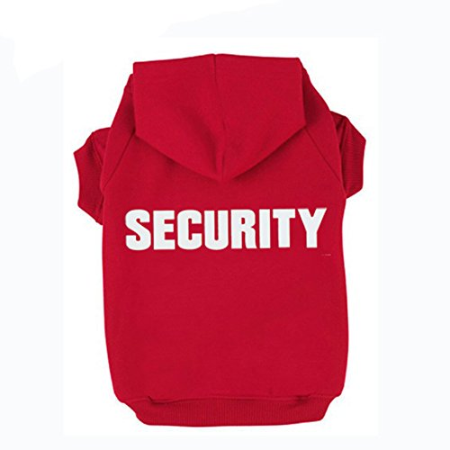 BINGPET BA1002-1 Security Patterns Printed Puppy Pet Hoodie Dog Clothes XS