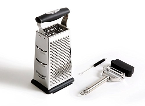 Benchusch 4 Sided Grater Box & Peeler Set – Covers all of your grating and peeling needs - Premium stainless for slicing everything with ease and efficiency