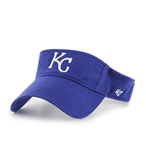 Royal Visor - MLB Kansas City Royals Clean Up Adjustable Visor, One Size, Royal