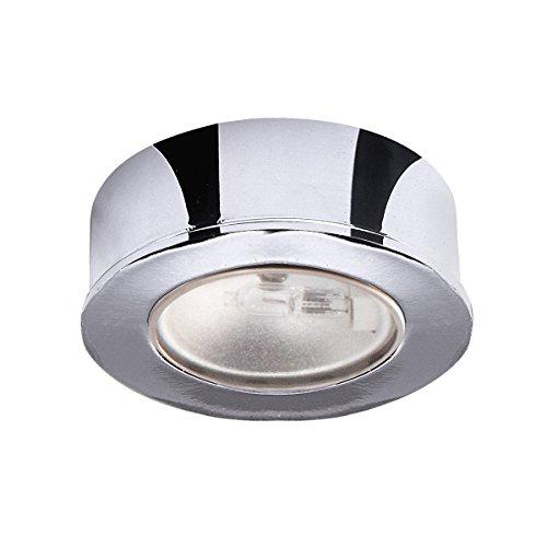 (WAC Lighting HR-88-CH Low Voltage Round Button Puck Light Finish: Chrome)