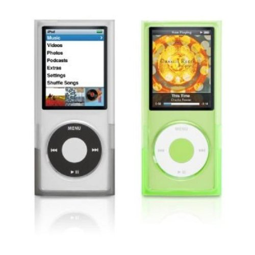 Griffin 2-Pack Wave Case with Interlocking Closure and EasyDock for iPod nano 4G (Black/Green) (Ipod Nano 3g Green)