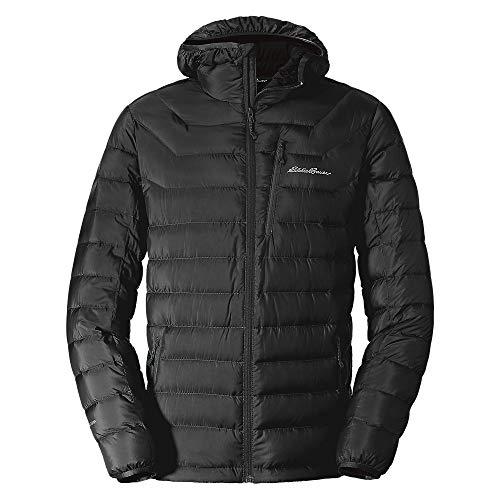 Eddie Bauer Men's Downlight Hooded Jacket, Black Regular M (800 Down Hoodie)