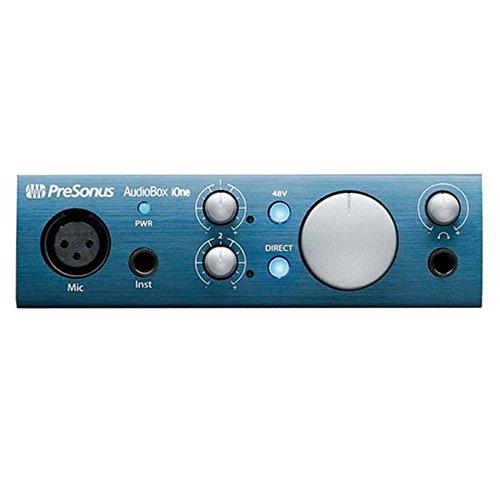 PreSonus AudioBox iOne Audio Interface with Headphones & Cables Bundle