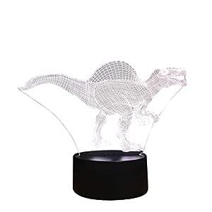 Ogquaton Dinosaurio 3D Lámpara de escritorio de mesa de luz ...