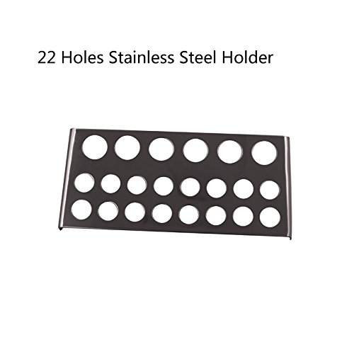 Biomaser New Large Stainless Steel Tattoo Ink Cup Holder For 22 caps Stand Machine Supply