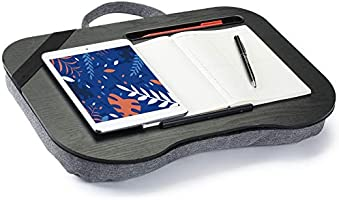 Amazon.com : Knodel Lap Desk, Laptop Desk with Handle, Pen Holder, Fits Up  to 13.3 Inch Laptops, with Built-in Cushion, Great for Home & Office,  Business & Travel (Black) : Office Products