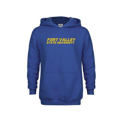 Fort Valley State Youth Royal Fleece Hoodie Wordmark