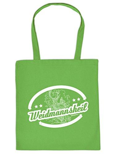 Tasche für Weihnachten. Henkeltasche mit Aufdruck: WEIDMANNSHEIL. Die Einkaufstasche als tolle Geschenkidee.