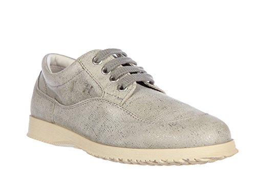 Hogan Mujeres Classic Leather Lace Up Zapatos Formales Con Cordones Derby Grey