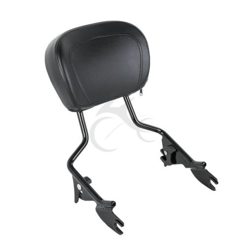 TengChang Staccabile cuscino per schienale Sissy Bar per Harley Touring Road Glide FLTRS 2009 2010 2011 2012 2013 2014 2015 2016 2017 (Argento)
