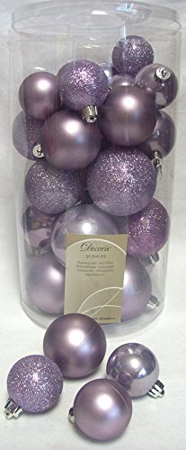 more photos 22082 06f34 Decoris 30 Luxury Shatterproof Christmas Baubles Tree ...