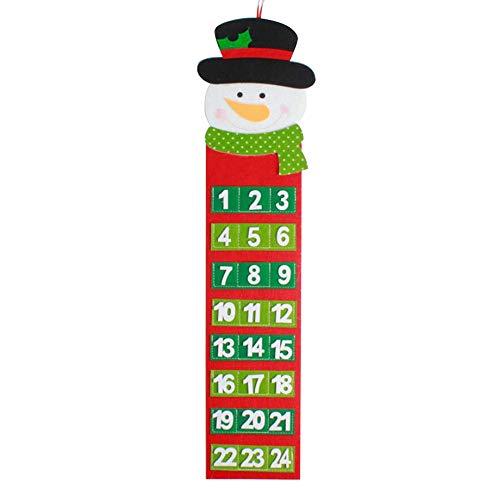 Memela Christmas Old Hairy Man Calendar Advent Countdown Calendar Wall Calendar (B, OneSize) ()