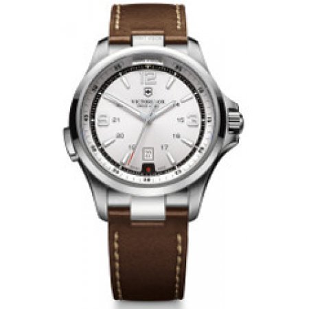 Victorinox Men's 241570 Night Vision Stainless Steel Watch with Brown - Roun Brown