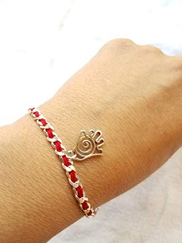 (Chamsa Kabbalah-inspired Bendel Bracelet for Luck, Protection and Prosperity | Alef Bet by Paula)