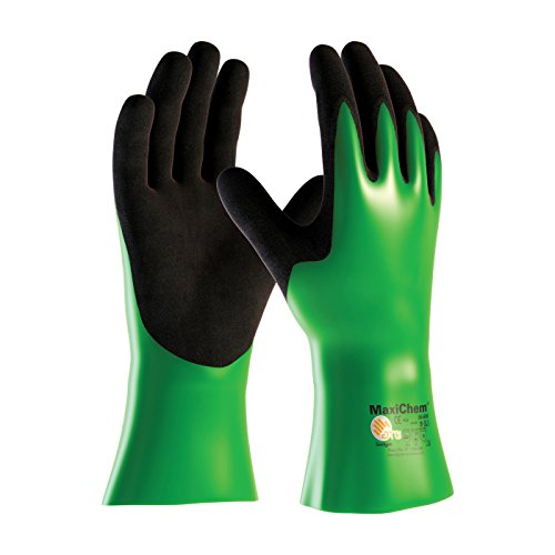 MaxiChem 56-630/XL Nitrile Blend Coated Glove with Nylon/Lycra Liner and Non-Slip Grip on Palm and Fingers, 12'' by MaxiChem