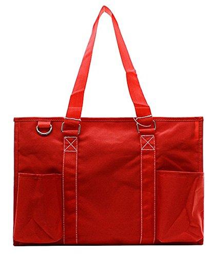 N Gil All Purpose Organizer Medium Utility Tote Bag (Solid Red)
