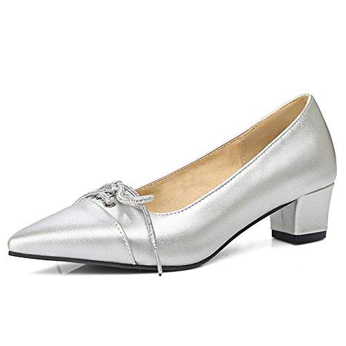 Fashion HeelHeels - Sandalias con cuña mujer plata