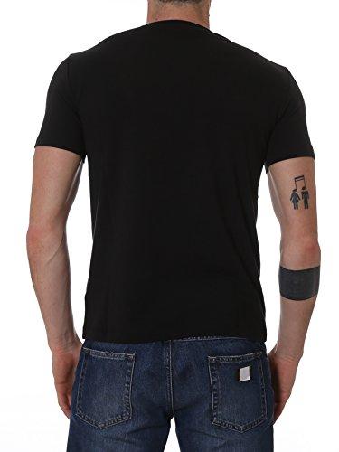 Emporio Armani Herren 3YPTL7PJ20Z1200 Schwarz Baumwolle T-Shirt