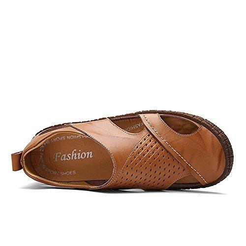 Sandalias Negro Yellow 40EU Tamaño Plano con Sunny Zapatos de Tacón Hombres amp;Baby Antideslizante para Color Resbalón Planas Color Sólido Plano Tacón en de los Brown 51RAqRxw