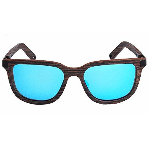 la de la ULTRAVIOLETA Playa mano vendimia madera Protección Ojos la a hechos de de colorida polarizadas conduce hombres pesca Gafas TAC Azul de los de Retro aire al lente de li sol sol que gato de Gafas de 54vHwPq