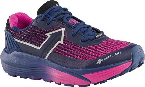 (RaidLight Womens Responsiv Ultra Trail Running Trail Running Shoes, Navy/Pink, 9.5 D(M) US)