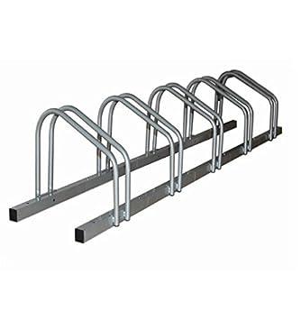 HOMCOM 5 Bike Parking Stand Bicycle Floor Rack Mount Holder Storage