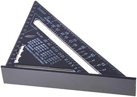 Quadratischer Winkelmesser schwarz Aluminiumlegierung TOOLSTAR Dreieck-Lineal Dreiecks-Lineal 17,8 cm//30,5 cm 90 Grad-Messwerkzeug f/ür Schreiner Hochpr/äzise