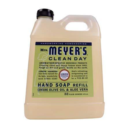 Mrs. Meyer's Clean Day Liquid Hand Soap Refill, 33 oz (Lemon Verbena, Pack - -