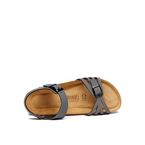 Mandèl MD4502 - Sandalias de Vestir de Piel Sintética Para Mujer Gris Gris