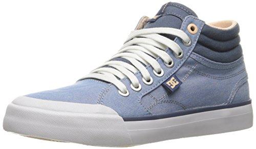 - DC Women's Evan Hi TX SE W Skate Shoe Skateboarding, Denim, 7 B US