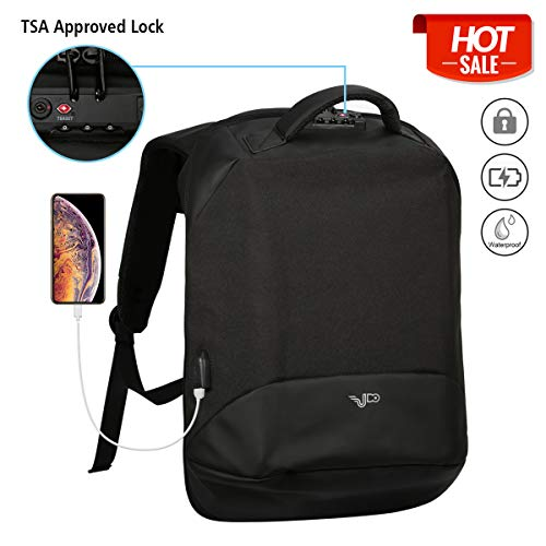 (Anti Theft Business Laptop Backpack, Travel Lightweight Laptops Bag with USB Charging Port,TSA Approved Lock, College School Computer Backpack or Women & Men Fits 17