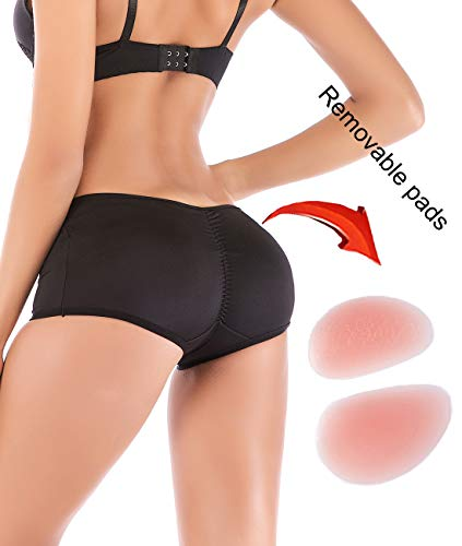 FUT Women Silicone Butt Lifter Padded Shapewear Hip Enhancer Control Panties Body Shaper Underwear