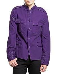 Tripp Gothic Army Military Band Uniform Joker Purple Coat Jacket
