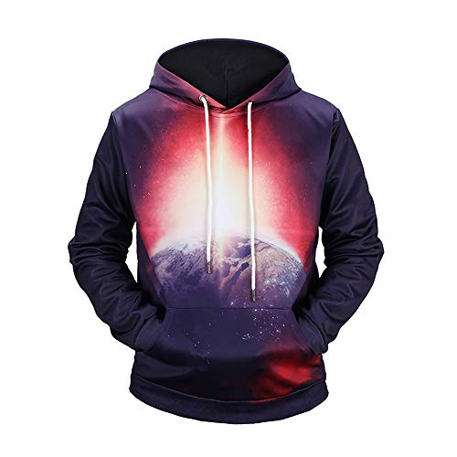 Corriee Fashion Tops for Men 2018 Autumn Long Sleeve 3D Print Cool Hoodie Mens Trendy Party Hooded Sweatershirts by Corriee Men Hoodies