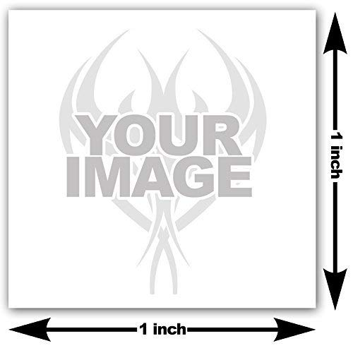 Amazon.com: 1x1 inch Send your image or logo as custom temporary ...
