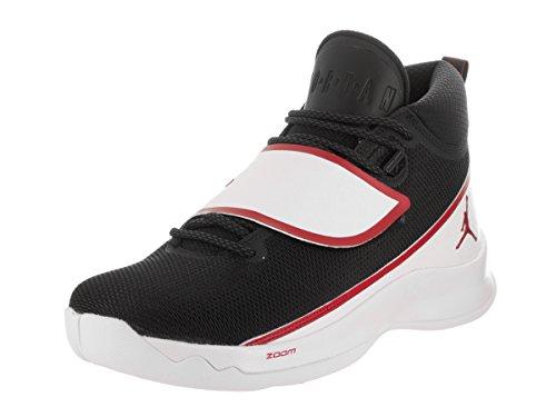 Jordan Nike Mens Super.fly 5 Po Scarpe Da Basket Nero / Palestra Rosso / Bianco