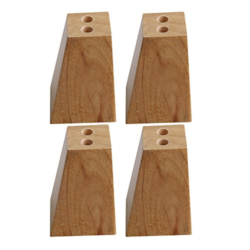 4Pcs 82mm Height Oak Wood Furniture Legs Couch Dresser Armchair Feet -