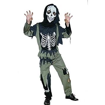 Disfraz esqueleto zombie niño - 4 - 6 años: Amazon.es ...