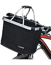 COFIT Zusammenklappbarer Fahrradkorb, Abnehmbarer Fahrrad-Mehrzweck-Lenkerkorb für Haustierträger, Lebensmitteleinkauf, Aktentasche Pendler, Camping im Freien