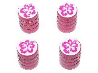 Graphics and More Hibiscus Flower - Tire Rim Valve Stem Caps - Pink