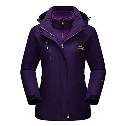 MAGCOMSEN Women's Winter Coats 3-IN-1 Snow Ski Jacket Water Resistant Windproof Fleece Winter Jacket Parka