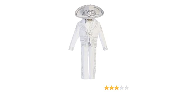 Angels Garment Little Boys White Our Lady Guadalupe Charro Baptism Set 3-6