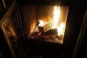 Ecoblaze RUF Briquetas estufas Ideal para chimeneas Carbono Neutral estufas fogones - Madera dura Quemado largo chimneas 1 Paquete Briqueta Eco-Log 10Kg