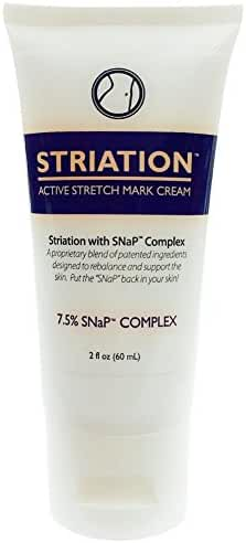 Striation Active Stretch Mark Cream - Clinically Tested To Reduce Stretch Marks, Scars and Varicose Veins. Target Your Stomach, Arms, Butt and Thighs