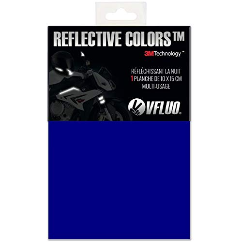 VFLUO 3M REFLECTIVE COLORS™, Universal adhesive DIY kit for Helmet/Motorcycle / Scooter/Bike, 3M Technology™, 10 x 15 cm sheet, Dark blue