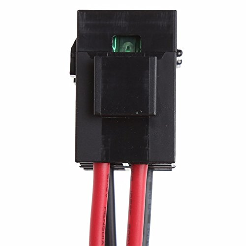 Semoic 30A Fuse 6 PIN Short Wave Power Supply Cord Cable for Yaesu FT-857D IC-725A 1 metres