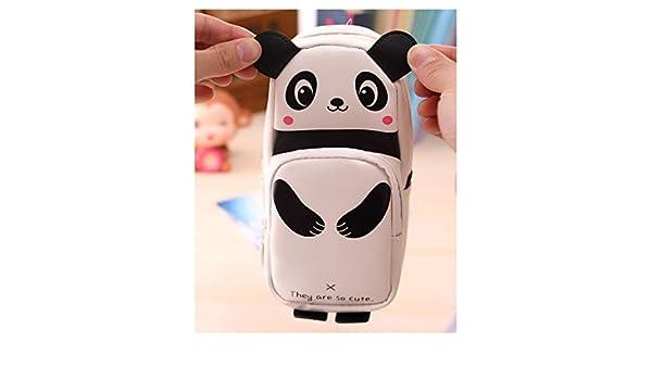 FiedFikt Estuche para lápices, diseño de Panda en 3D, para la Escuela y la Oficina: Amazon.es: Hogar