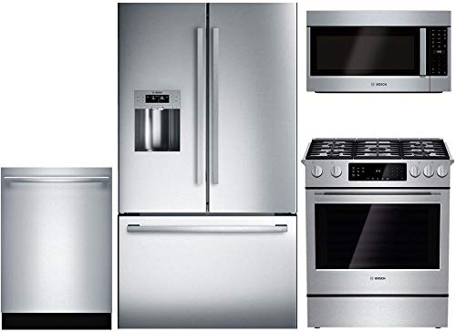 Bosch 4-Piece Stainless Steel Kitchen Package with B26FT50SNS 36