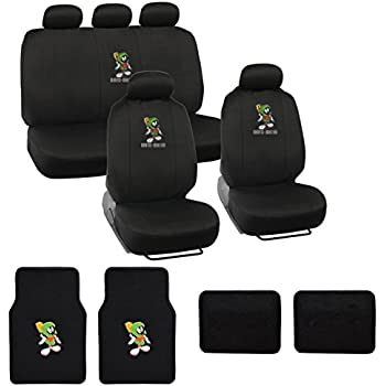 tweety bird full auto interior gift set car seat covers floor mats w 5 head. Black Bedroom Furniture Sets. Home Design Ideas